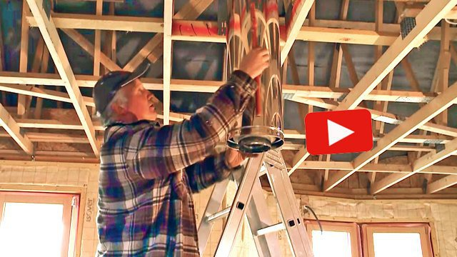 Vidéo  installer un poêle à bois et un conduit de fumée