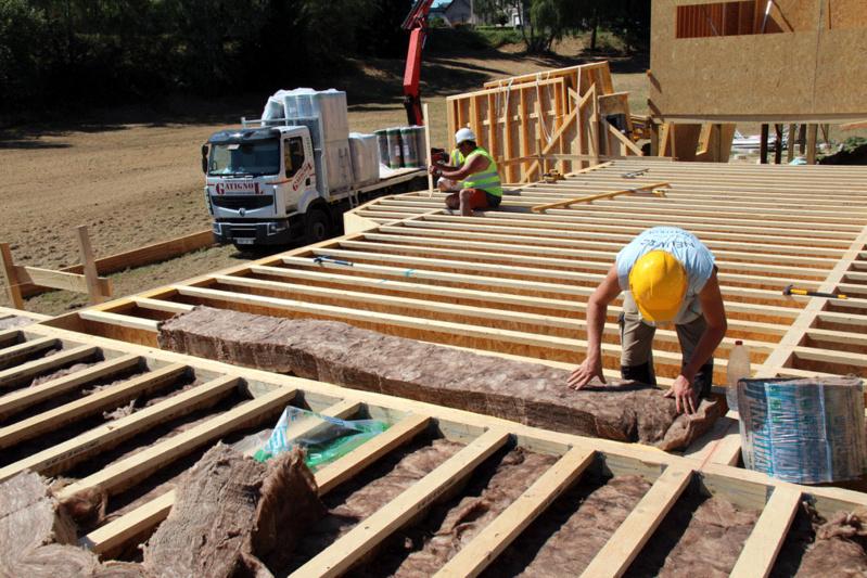 DALLE BOIS : le plancher bois de rez-de-chaussée