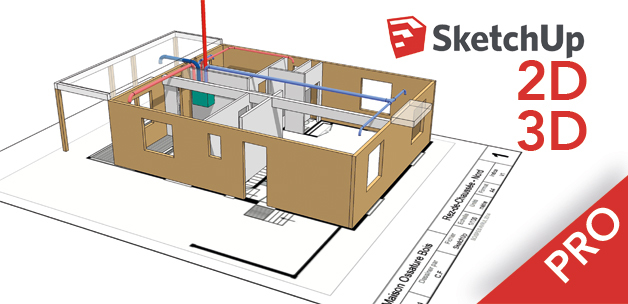 Formation sketchup 3d pro perfectionner sa pratique et for Plan maison sketchup