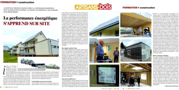 Artisans et bois : La performance énergétique s'apprend sur site