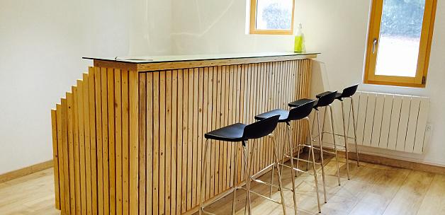 Fabriquer un bar tr s design partir du m cano mob for Plan pour construire un bar en bois