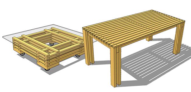 Fabriquer une table basse en bois massif - Fabriquer une table basse en bois ...