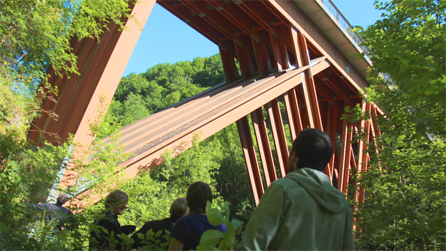 Pont de Merle : quand le douglas fait ouvrage d'Art