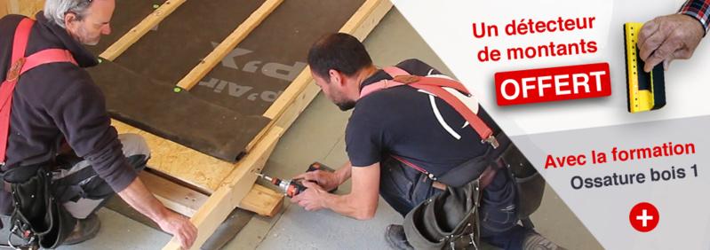 Un détecteur de montants offert avec le stage Ossature bois + extensions