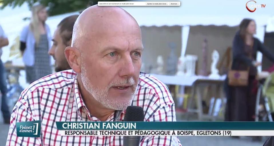 Christian Fanguin présente lors des Forêts Follies de Guéret.