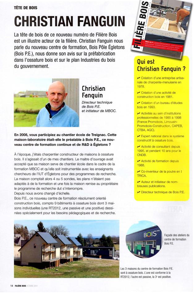 Filière Bois : Christian Fanguin, l'Expert