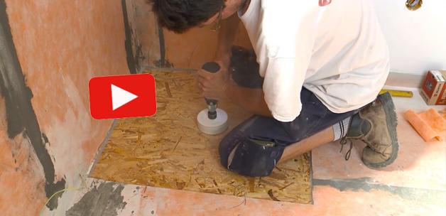 Vid o poser un carrelage et une douche l 39 italienne sur un plancher bois - Douche italienne sur plancher bois les etapes ...