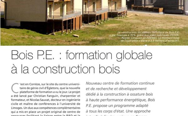 Articles de presseà propos de Bois PE BOIS PE, Formation construction bois et performance  # Formation Construction Bois