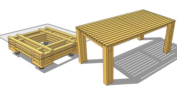 Les ressources de bois pe pour la construction bois et for Plan table bois