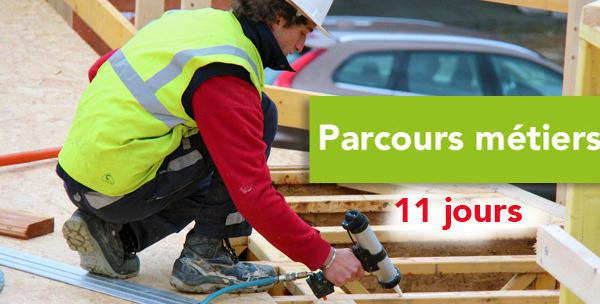 Parcours Métiers Construire en OSSATURE BOIS (11 jours)