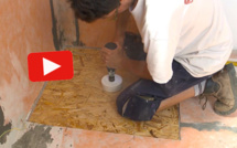 Vidéo : poser un carrelage et une douche à l'italienne sur un plancher bois
