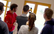 Des étudiants d'Egletons découvrent l'infiltrométrie dans des maisons ossature bois
