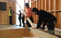 7 jours pour construire et agrandir en ossature bois (photos)