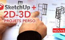 Formation SketchUp Make + : perfectionner sa pratique en travaillant sur ses projets professionnels en 2D et 3D