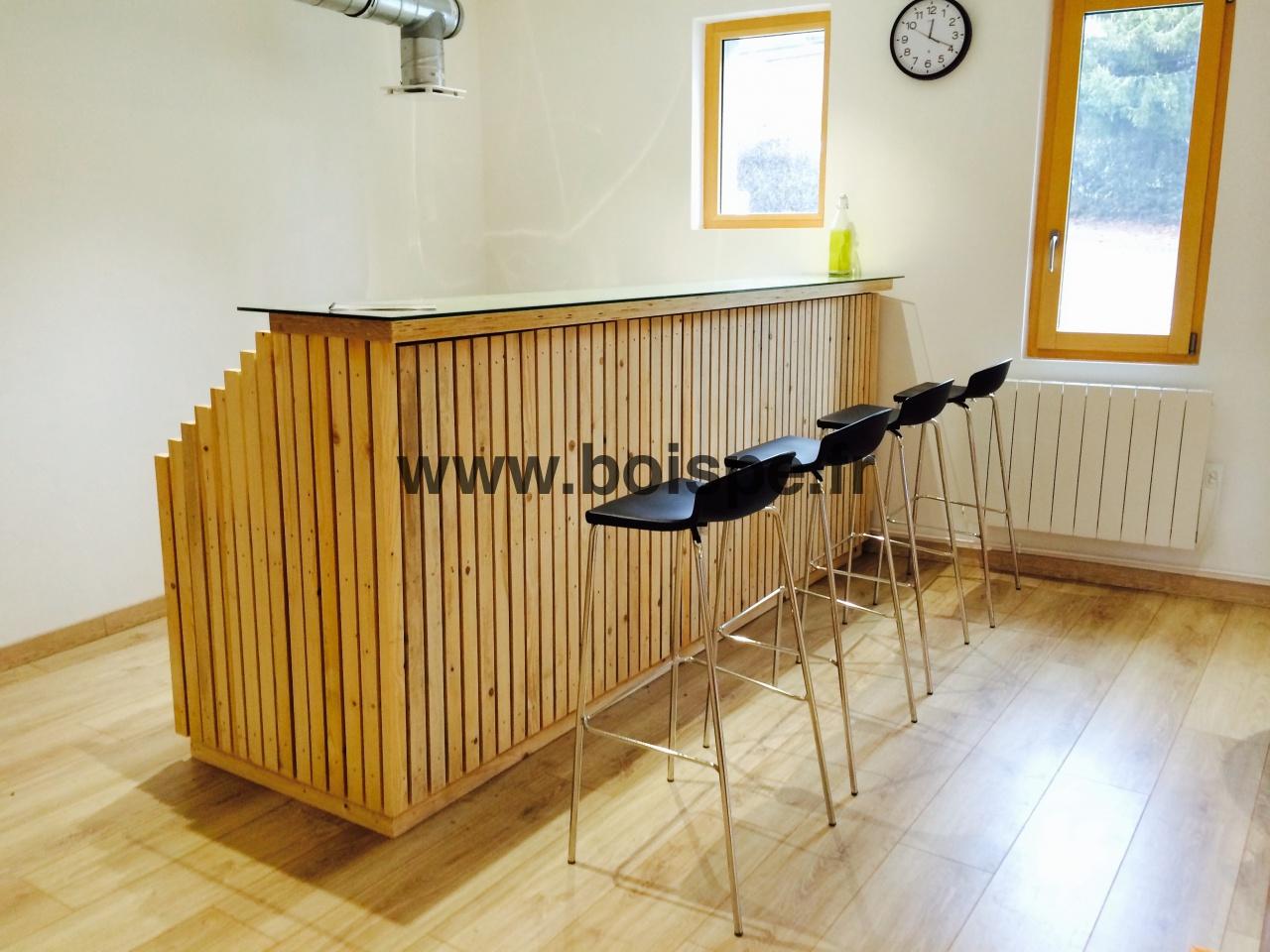 Diaporama fabriquer un bar tr s design partir d 39 l ments d 39 ossature - Customiser un bar en bois ...