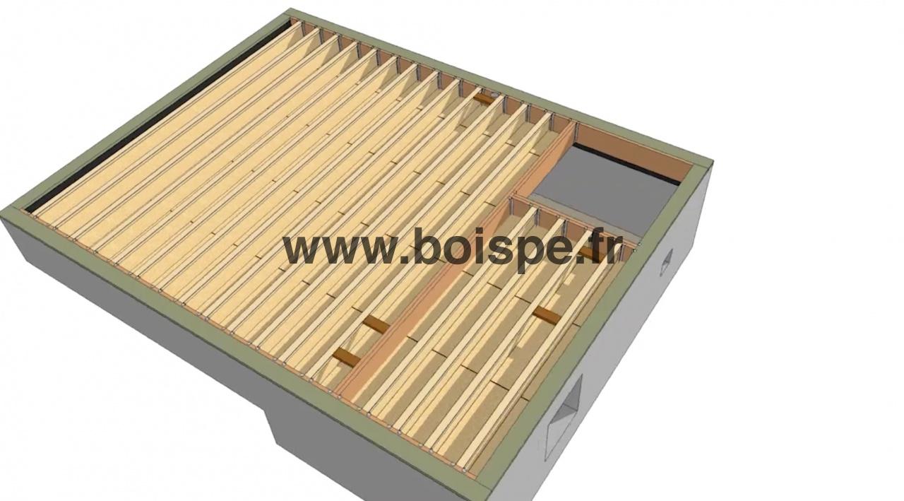 Vid o bien r aliser un plancher de rdc en bois for Prix poutre en i osb